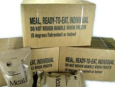 Menu C Full Meal Military Style MRE's